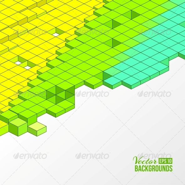 GraphicRiver Background of Cubes 4224150