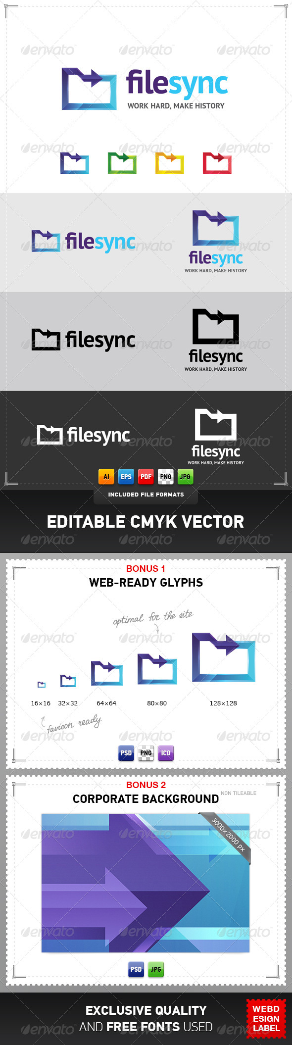 GraphicRiver File Sync Logo 4078914