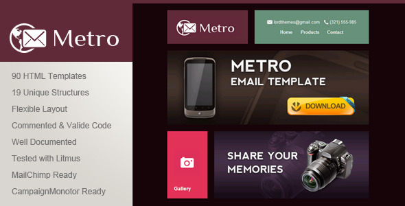 Metro - Multipurpose Email Template