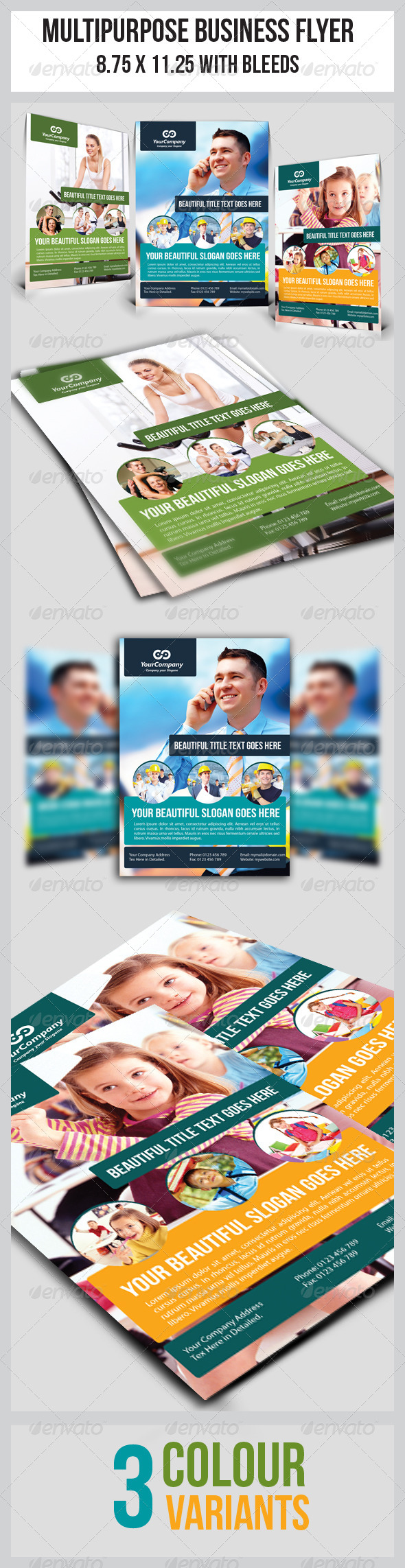 GraphicRiver Multipurpose Business Flyer 12 3786879