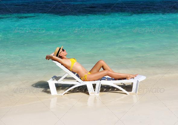 PhotoDune Girl on a beach 4229640