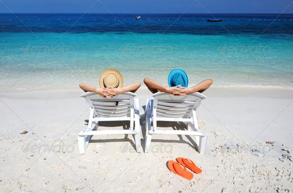 PhotoDune Couple on a beach 4229651
