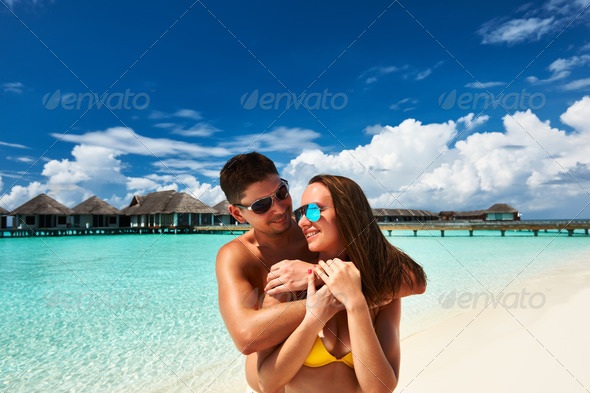 PhotoDune Couple on a beach at Maldives 4229675