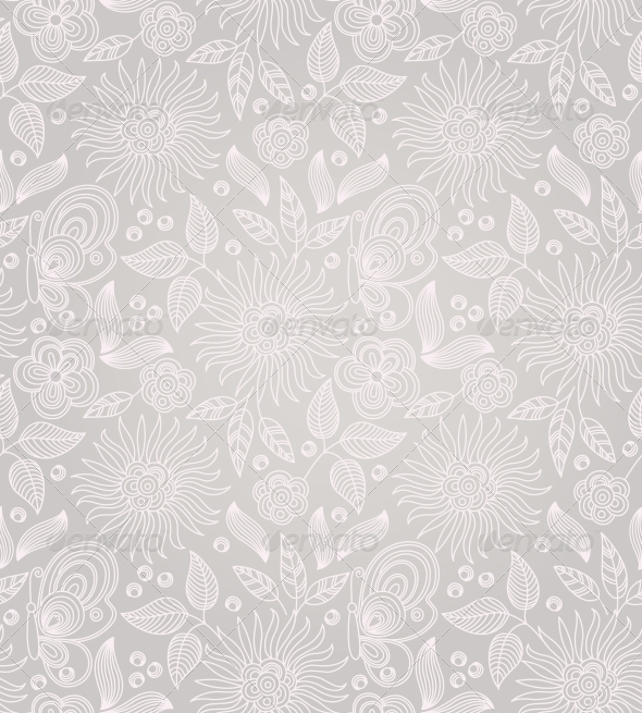 GraphicRiver Decorative Floral Seamless Background 4228424