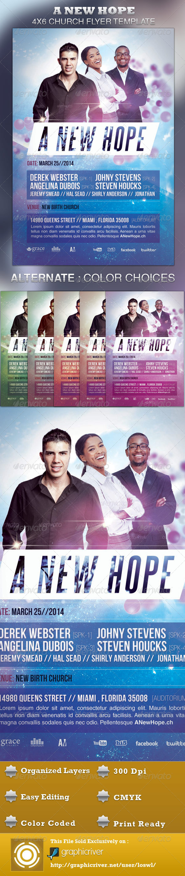 GraphicRiver A New Hope Church Flyer Template 4229022
