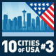 Vector City Skyline Set. USA #3 - GraphicRiver Item for Sale