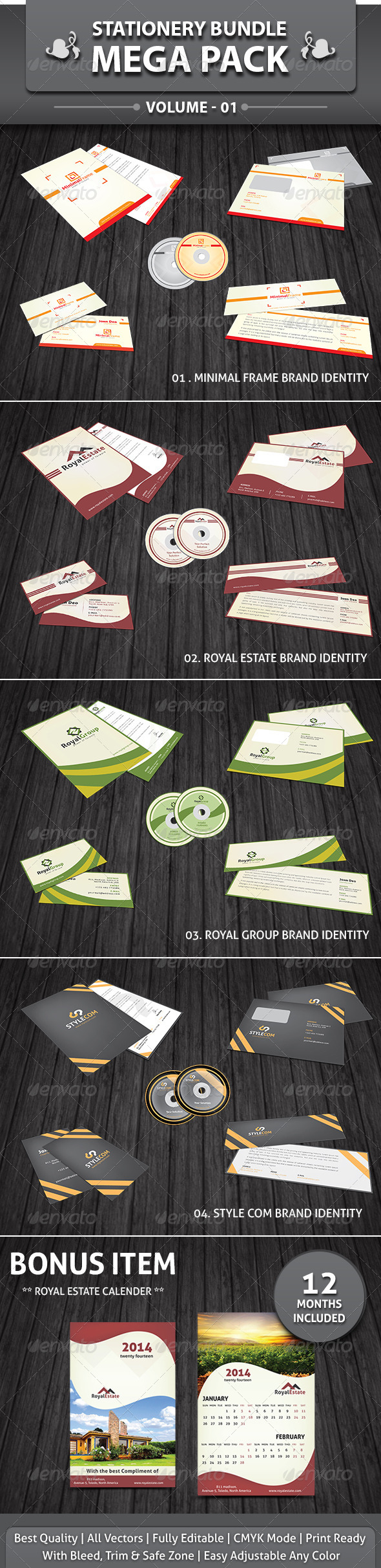 GraphicRiver Stationery Mega Bundle Pack v1 4229600
