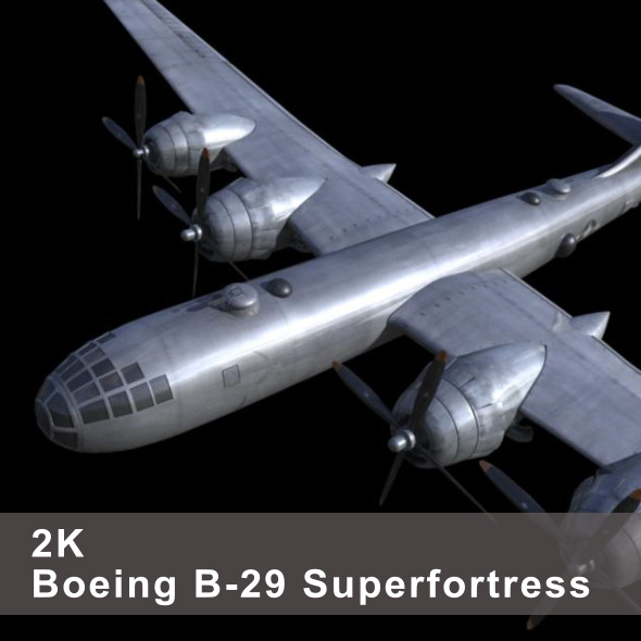 3DOcean B-29 Superfortress 4230349
