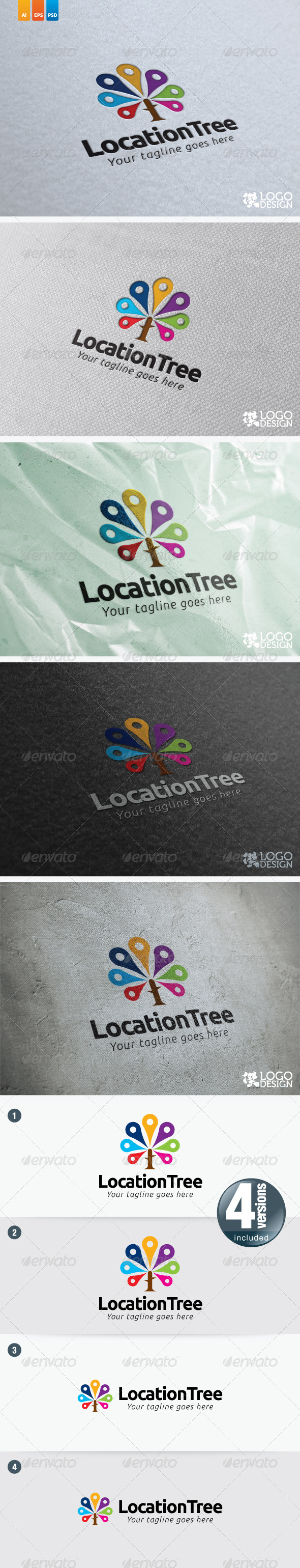 Location Tree - Nature Logo Templates