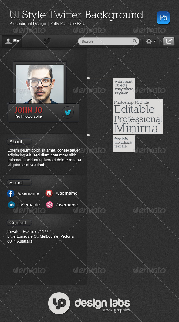 GraphicRiver UI Style Twitter Background 4156691