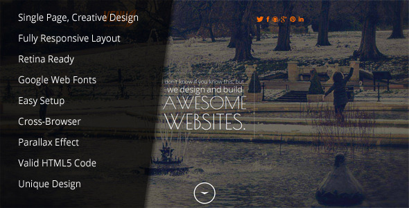 Venus - Responsive/Parallax/Retina Ready Template - Creative Site Templates