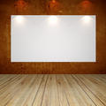 white canvas on brown grunge texture wall  - PhotoDune Item for Sale
