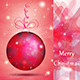Elegant Christmas Ball with Pink Shades - GraphicRiver Item for Sale