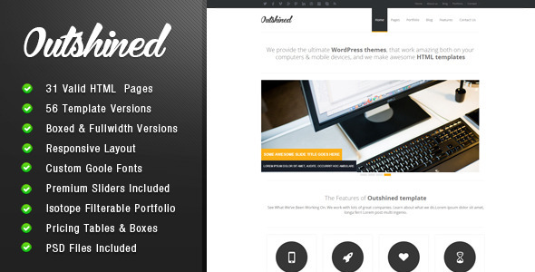 ThemeForest Outshined Responsive HTML5 Template 4213841