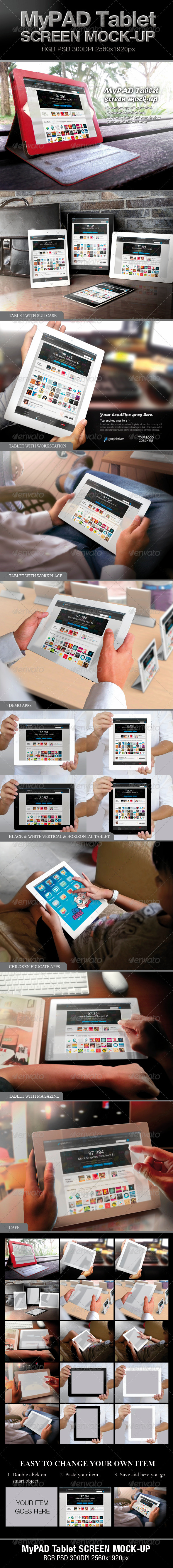 GraphicRiver MyPAD Tablet Screen Mock-up 4233221