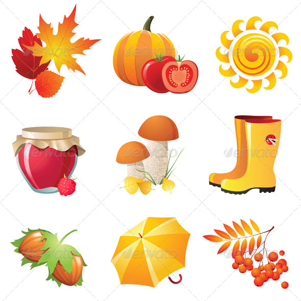 GraphicRiver Autumn Icons 4233439