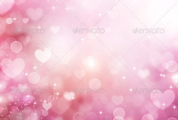 Valentine Hearts Abstract Pink Background. St.Valentine's Day - Stock Photo - Images