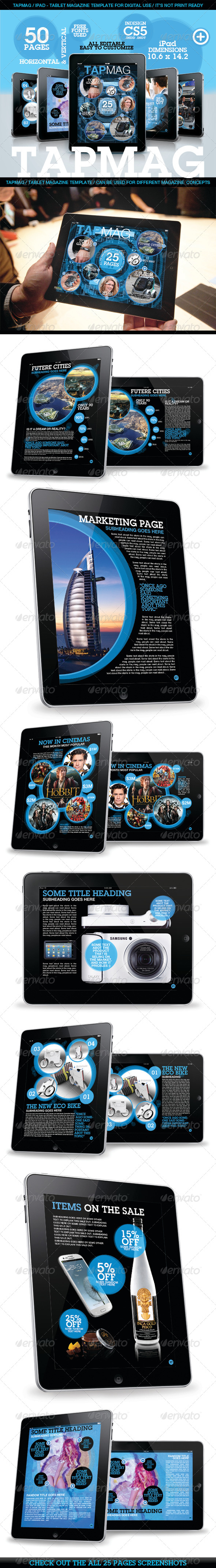 GraphicRiver Tabmag Tablet Magazine Template 4053170