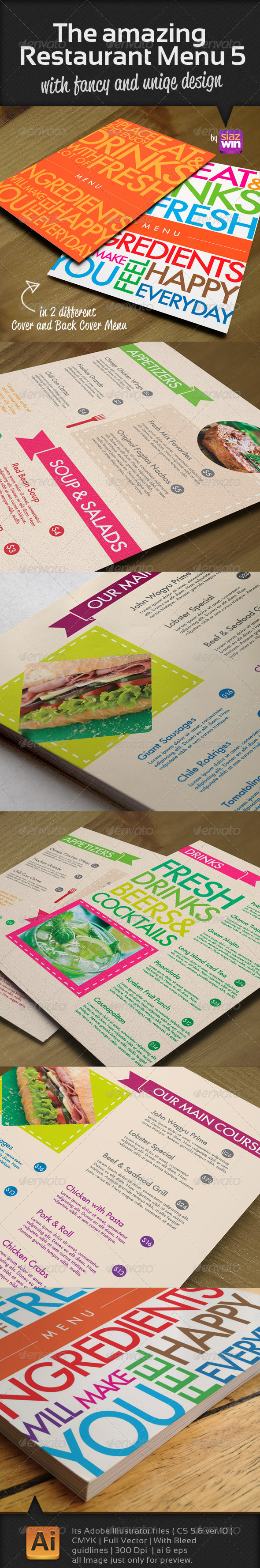 GraphicRiver The Amazing Restaurant Menu 5 4234162