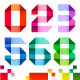 Spectral Numbers Folded of Ribbon Colored Paper - GraphicRiver Item for Sale