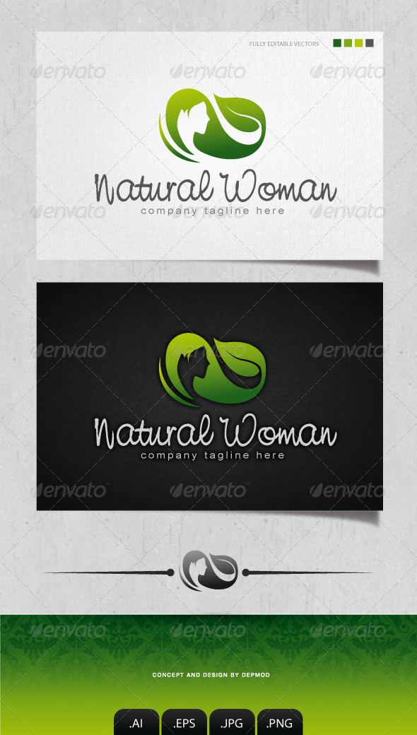 GraphicRiver Natural Woman Logo 4132249