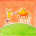 Happy young camel, child's drawing, watercolor painting on paper - PhotoDune Item for Sale