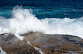 ocean waves crashing on rocks - PhotoDune Item for Sale