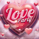 Valentine&amp;#x27;s Love Party Flyer - GraphicRiver Item for Sale