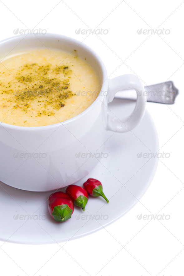 PhotoDune vegetable soup on white 4236432