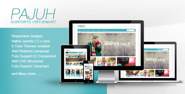 Pajuh - Clean and Responsive Virtuemart Templates - Joomla CMS Themes
