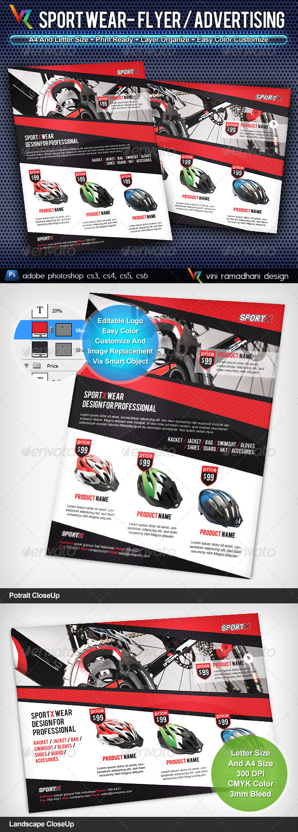 GraphicRiver Sport Wear Flyer Advertisement 4236754