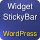 Widgetized Stickybar - CodeCanyon Item for Sale