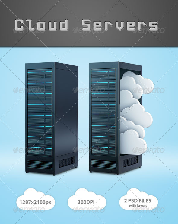 GraphicRiver Cloud Servers 4237350