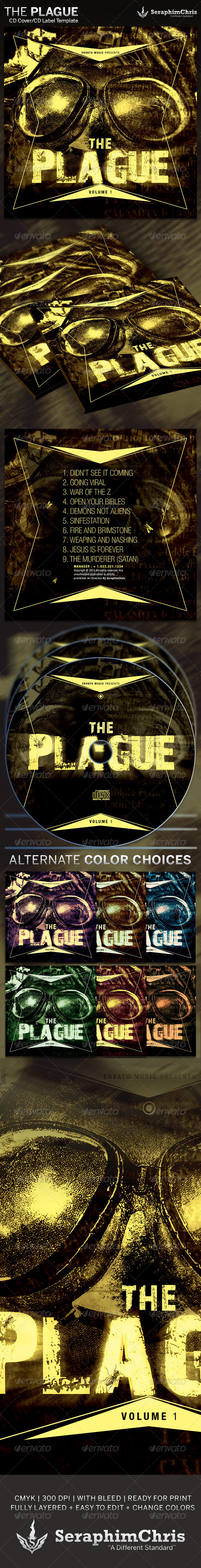 The Plague: CD Cover Artwork Template - CD & DVD artwork Print Templates