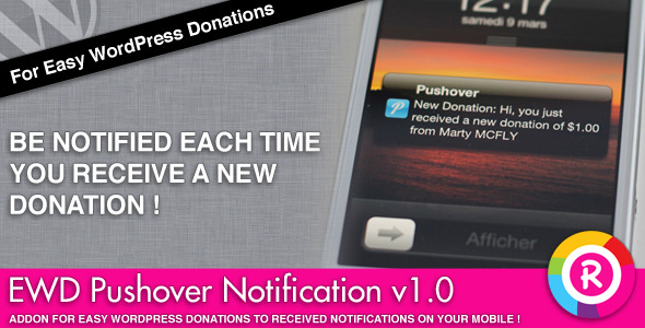 Easy WordPress Donations Pushover Notification - CodeCanyon Item for Sale