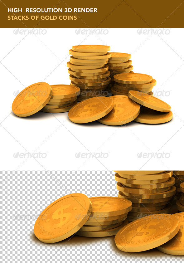 GraphicRiver Gold Coins 459189