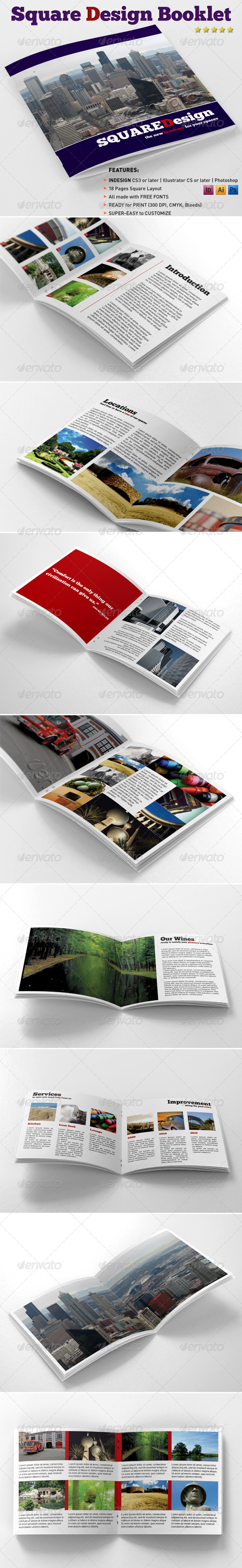 Square Design Booklet - Catalogs Brochures