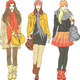 Vector Fashion Stylish Girls in Warm Clothes - GraphicRiver Item for Sale