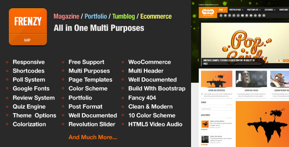 Frenzy Responsive Multi-Purposes Theme