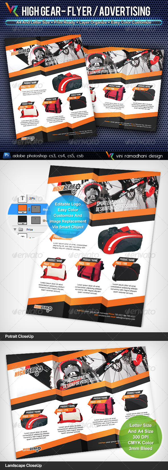 GraphicRiver High Gear Flyer or Advertising 4240558