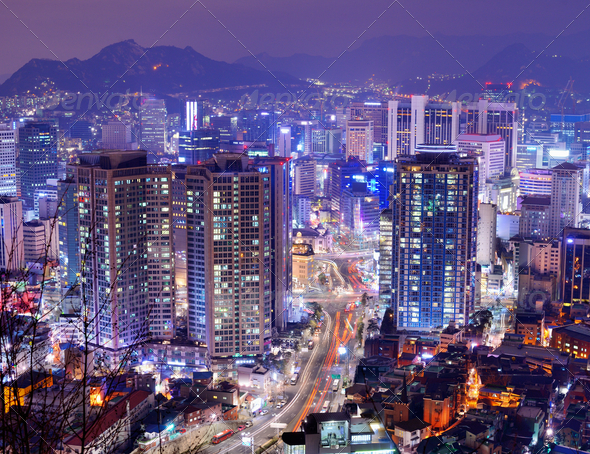 Seoul Gangnam District - Stock Photo - Images