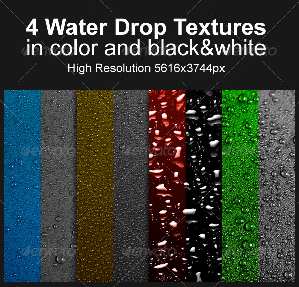 GraphicRiver 4 Water Drop Textures 4240827