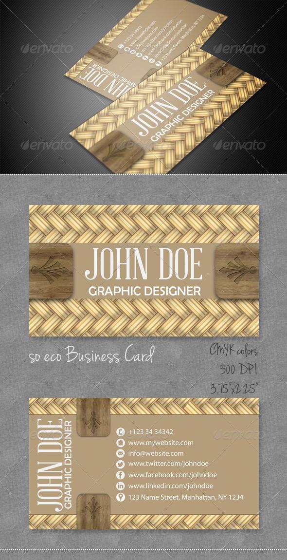 GraphicRiver Wicker Business Card 4056044