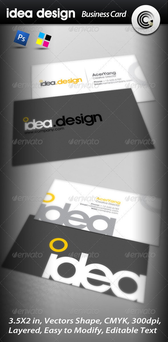 GraphicRiver Idea Design Business Card 459450