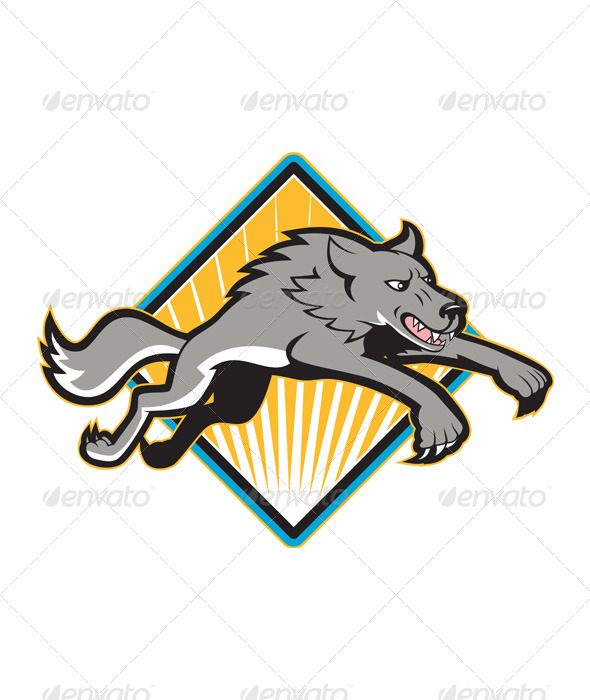 GraphicRiver Gray Wolf Jumping Attacking 4243595