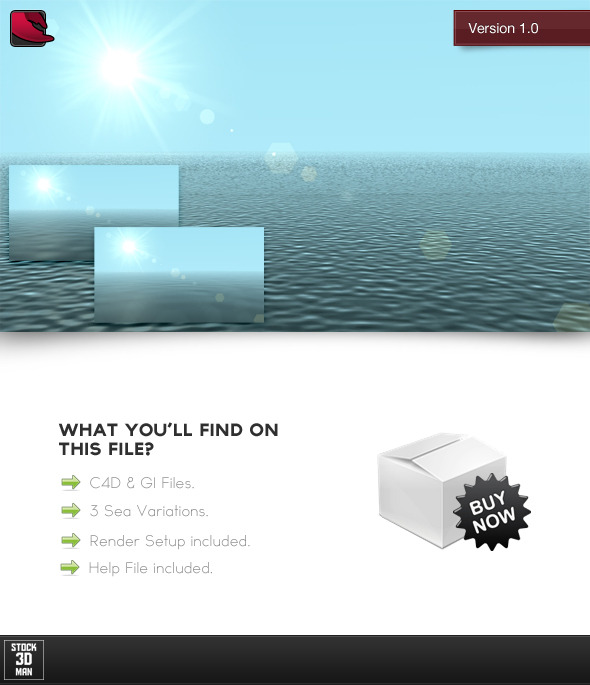 3 Sea / Ocean C4D Materials - 3DOcean Item for Sale