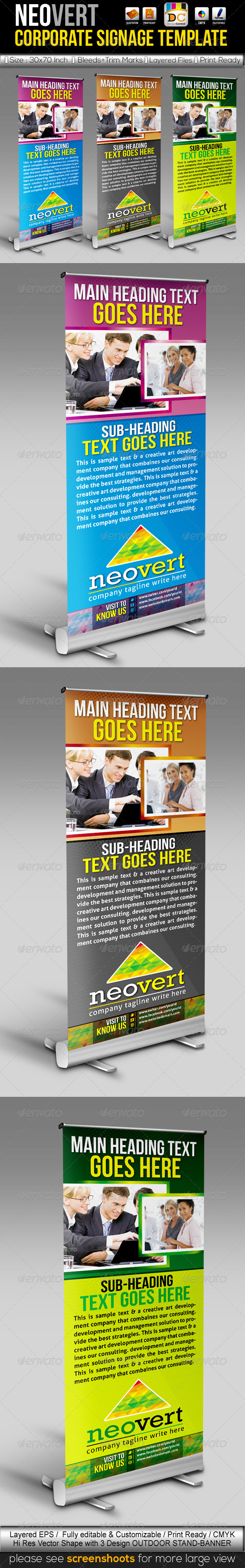 GraphicRiver NeoVert Out-Door Stand Banner Sinage Templates 4033318