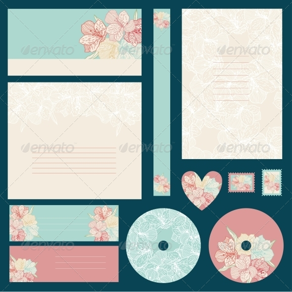 GraphicRiver Set of Wedding Invitations 4243947