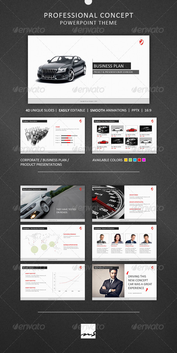 GraphicRiver Professional Concept Powerpoint Theme 4243966