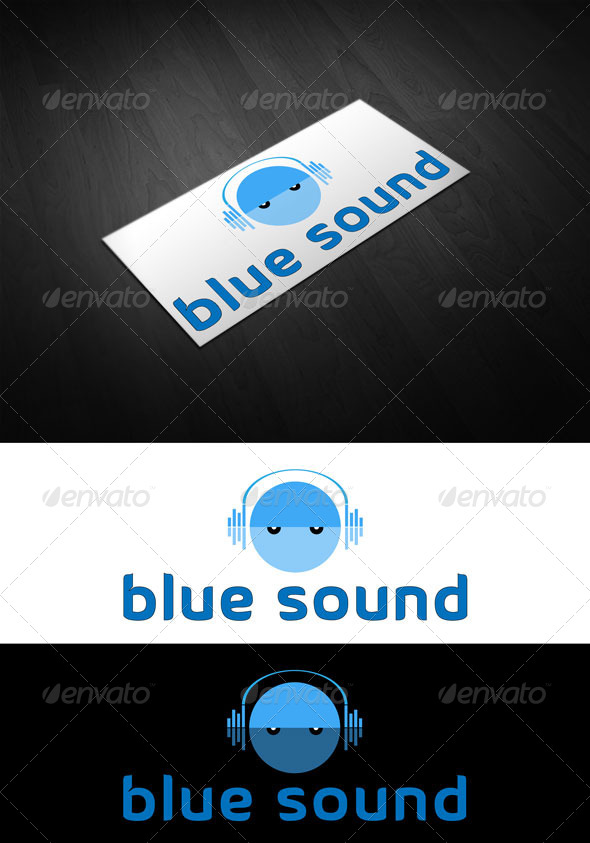 GraphicRiver Blue Sound logo 4148322